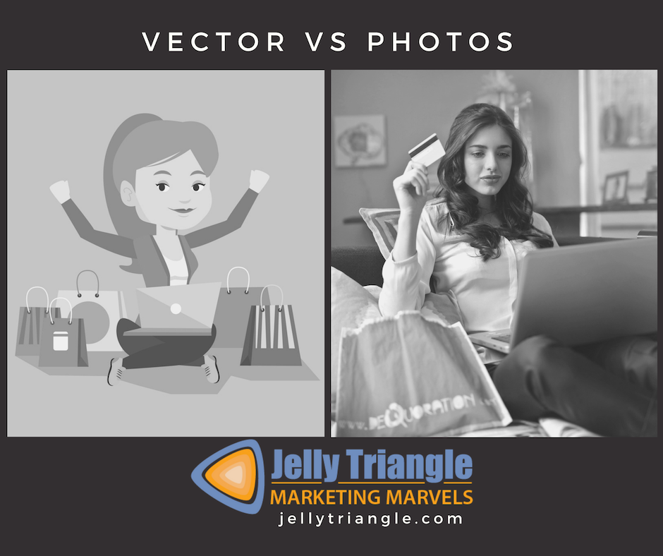 Photos vs Vectors FB