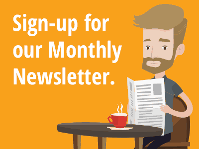 jelly triangle sign up newsletter monthly news
