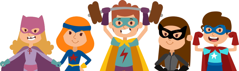 jelly triangle web design marketing team super heroes